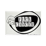 Girlie Fuck Cancer Rectangle Magnet