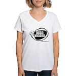 Girlie Fuck Cancer Women's V-Neck T-Shirt