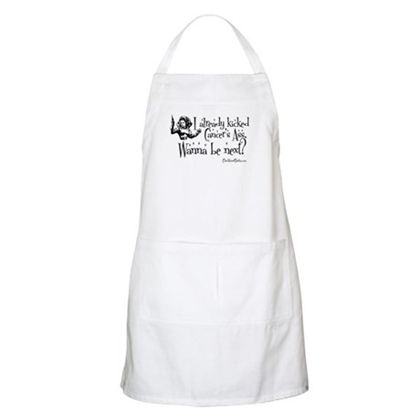 I already beat Cancer's ass... BBQ Apron