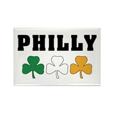 Philly Irish Shamrocks Rectangle Magnet