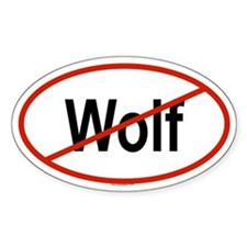 WOLF Oval Decal