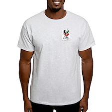Ash Grey T-Shirt w/ AOH Logo on Pocket