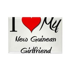 I Love My New Guinean Girlfriend Rectangle Magnet