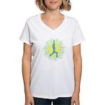 CENTERED YOGA Women's V-Neck T-Shirt