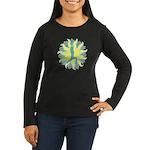 CENTERED YOGA Women's Long Sleeve Dark T-Shirt