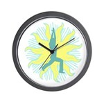 CENTERED YOGA Wall Clock