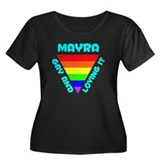 Mayra Gay Pride (#008) Women's Plus Size Scoop Nec