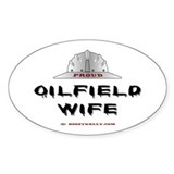 Proud Oilfield Wife Oval Decal