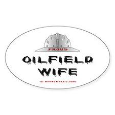 Proud Oilfield Wife Oval Decal