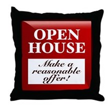 OPEN HOUSE (Make Offer) Throw Pillow