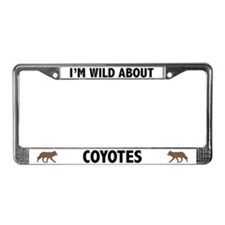 Wild About Coyotes License Plate Frame