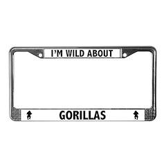 Wild About Gorillas License Plate Frame