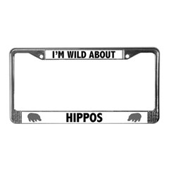 Wild About Hippos License Plate Frame