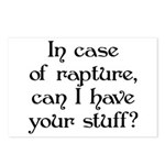 In case of rapture, can I hav Postcards (Package o