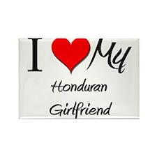 I Love My Honduran Girlfriend Rectangle Magnet (10