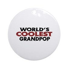 World's Coolest Grandpop Ornament (Round)