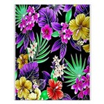 Colorful Flower Design Print Small Poster