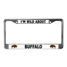 Wild About Buffalo License Plate Frame