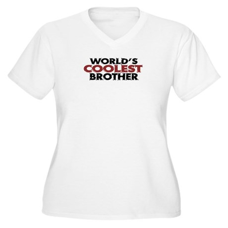 World's Coolest Brother Women's Plus Size V-Neck T
