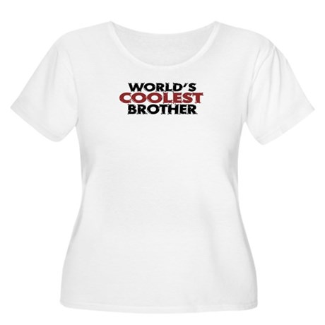 World's Coolest Brother Women's Plus Size Scoop Ne