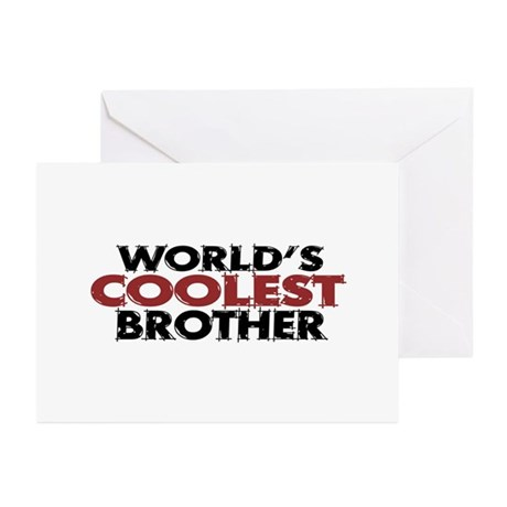 World's Coolest Brother Greeting Cards (Pk of 10)