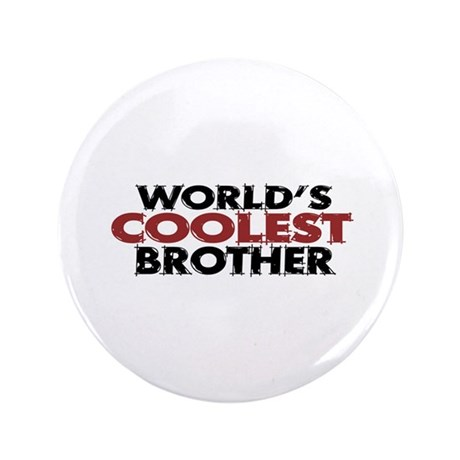 "World's Coolest Brother 3.5"" Button (100 pack)"