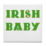IRISH BABY (Celtic font) Tile Coaster