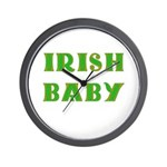 IRISH BABY (Celtic font) Wall Clock