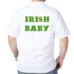 IRISH BABY (Celtic font) Golf Shirt