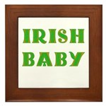 IRISH BABY (Celtic font) Framed Tile