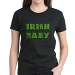 IRISH BABY (Celtic font) Women's Dark T-Shirt