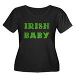 IRISH BABY (Celtic font) Women's Plus Size Scoop N