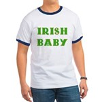 IRISH BABY (Celtic font) Ringer T