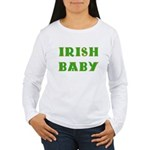 IRISH BABY (Celtic font) Women's Long Sleeve T-Shi