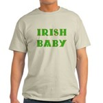IRISH BABY (Celtic font) Light T-Shirt
