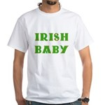 IRISH BABY (Celtic font) White T-Shirt