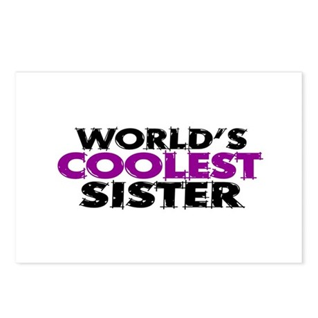 World's Coolest Sister Postcards (Package of 8)