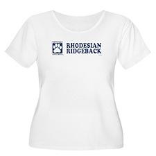 RHODESIAN RIDGEBACK Womens Plus-Size Scoop Neck T