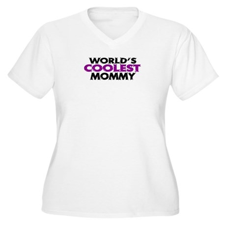 World's Coolest Mommy Women's Plus Size V-Neck T-S