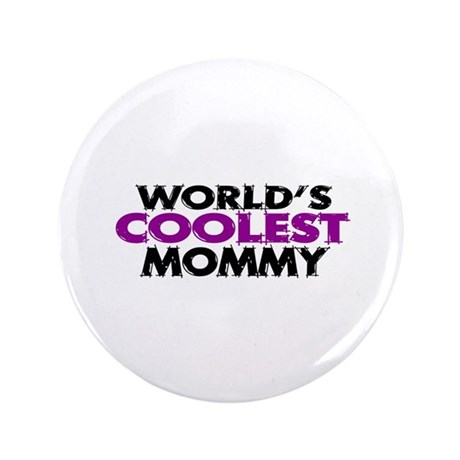 "World's Coolest Mommy 3.5"" Button (100 pack)"