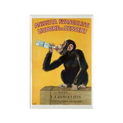 Monkey Liquor Poster Rectangle Magnet (10 pack)