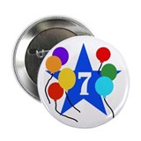 "Ballons 7th Birthday 2.25"" Button (10 pack)"