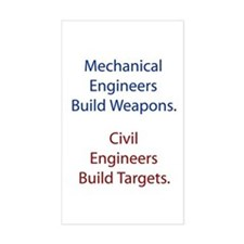 Mechanical Engineers and Civil Engineers Decal