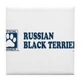 RUSSIAN BLACK TERRIER Tile Coaster