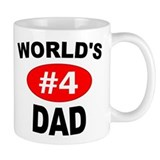 World's #4 Dad | Small Mug