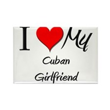 I Love My Cuban Girlfriend Rectangle Magnet (10 pa