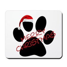 Cute Dog Paw Print Mousepad