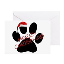 Cute Dog Paw Print Greeting Cards (Pk of 20)