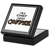 Chef Need a Coffee Keepsake Box