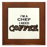 Chef Need a Coffee Framed Tile